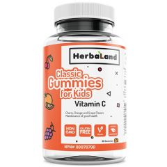 Herbaland Classic Gummy for Kids Vitamin C, 60 Gummies