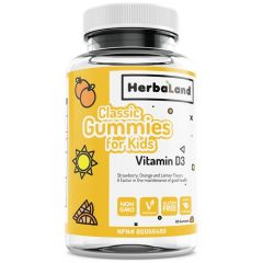 Herbaland Classic Gummy for Kids: Vitamin D, 60 Gummies