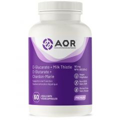 AOR D-Glucarate + Milk Thistle, 163mg, 60 Vegi-Capsules