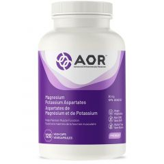 AOR Magnesium Potassium Aspartates, 120 Vegetable Capsules