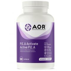 AOR P.E.A Activate 400mg (Endocannabinoid System Support), 90 Capsules
