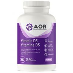 AOR Vitamin D3 1000IU, 120 Vegi-Softgels