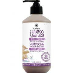Alaffia Shea Shampoo & Body Wash for Kids, All Hair and Skin Types (Lemon-Lavender), 476ml