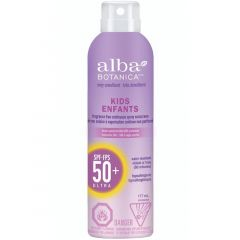 Alba Botanica Kids Fragrance Free Sunscreen Continuous Spray, Water Resistant (SPF 50), 177ml