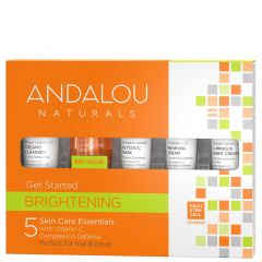 Andalou Naturals Brightening Get Started Kit, 5 Piece Kit