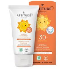 Attitude Skincare SPF 30 Mineral Sunscreen Lotion, BABY and KIDS, 150g