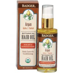 Badger Hair Oil (Argan) Leave-in Conditioning, 59ml