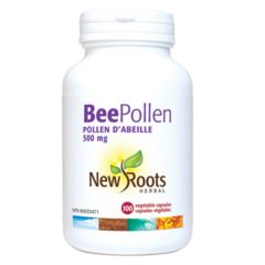 New Roots Bee Pollen 500mg, 100 Capsules
