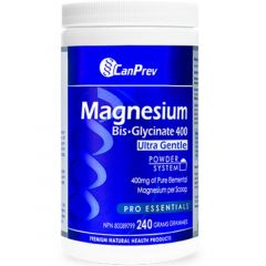 CanPrev Magnesium Bis-Glycinate 400mg Ultra Gentle Powder, 240g