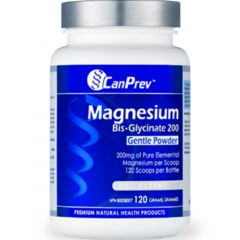 CanPrev Magnesium Bis-Glycinate Powder (200mg per scoop), 120g