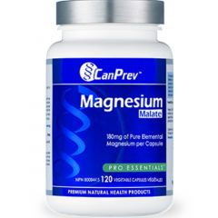 CanPrev Magnesium Malate 180mg, 120 Vegetable Capsules