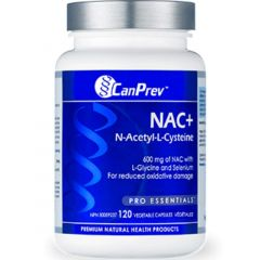 CanPrev NAC (N-Acetyl-L-Cysteine) 600mg with Glycine and Selenium, 120 Capsules