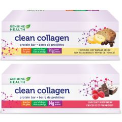 Genuine Health Clean Collagen Protein Bars (8 bars x 55g)