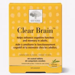 New Nordic Clear Brain, 60 Coated Tablets