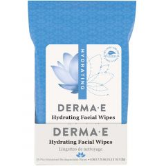 Derma E Hydrating Facial Wipes, Hyaluronic Acid, 25 Wipes