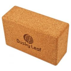 Dusky Leaf Cork Yoga Block