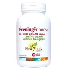 New Roots Evening Primrose Oil 1000mg (Certified Organic)