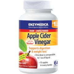 Enzymedica Apple Cider Vinegar (With Mother), 60 caps