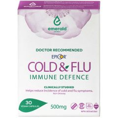 Emerald Health Epicor Cold and Flu Immune Defence (Doctor Recommended), 30 Capsules