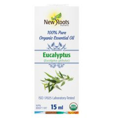 New Roots Eucalyptus Essential Oil Certified Organic, 15ml