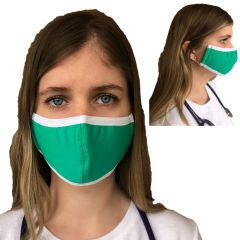 VedMed Solutions Organic Cotton Reusable Face Mask Three Layers (Adjustable 4 Inch Stiffener)