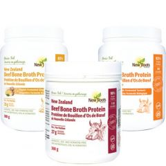 New Roots New Zealand Grass Fed Beef Bone Broth Protein (Antibiotic and Hormone Free), 300g
