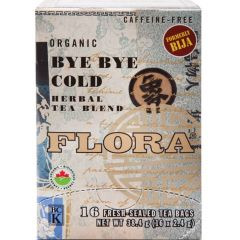 Flora Bye Bye Cold Herbal Tea (formerly Cold Stop) (Caffeine-Free), 16 Bags