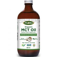 Flora Organic MCT Oil (Ethically Sourced Non-GMO Coconuts) (NEW!)