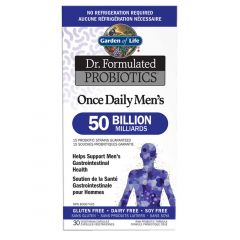 Garden of Life Dr. Formulated Probiotics Once Daily Men's, 50 Billion (Shelf Stable), 30 Vcaps