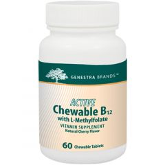 Genestra Active Chewable B12 with L-Methylfolate, 60 Tablets