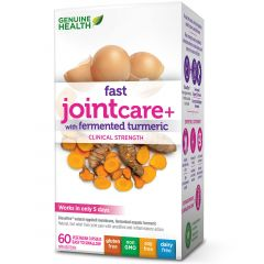 Genuine Health Fast Joint Care plus with Fermented Turmeric, Vegetable Capsules