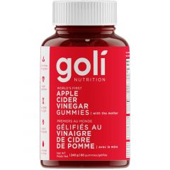 Goli Nutrition Apple Cider Vinegar (With Mother), 60 Gummies