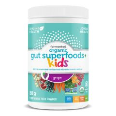 Genuine Health Fermented Organic Gut Superfoods plus, For Kids - Grape Flavor, 88 grams