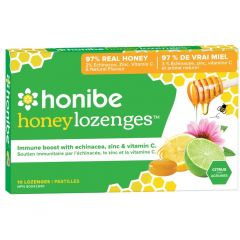 Honibe All Naural Immune Boost Throat Lozenge (With Zinc), 10 Lozenges