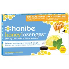 Honibe All Naural Ivy Leaf Throat Lozenge (Mucus and Cough Relief), 10 Lozenges