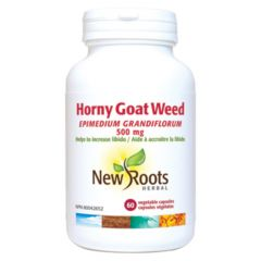 New Roots Horny Goat Weed 500mg, 60 Capsules