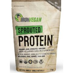 Iron Vegan Sprouted Protein (Organic, Raw, Non-GMO)