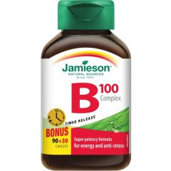 Jamieson B-100 Complex, Timed Release, 100mg, 90+30FreeCaplets