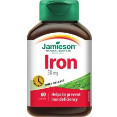 Jamieson Iron 50mg, Timed Release, 60 Caplets