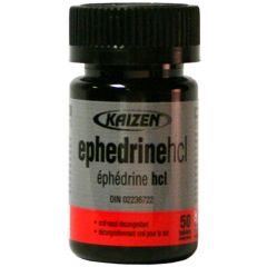 Kaizen Ephedrine 8mg *Bottles* (Ships within Canada Only)
