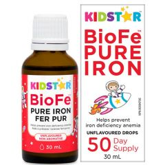 KidStar Nutrients BioFe Pure Iron Drops  for Kids (50 Servings), 30ml