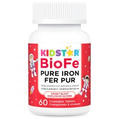 KidStar Nutrients BioFe Pure Iron Chewables, 60 Tablets