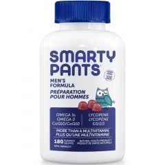 SmartyPants Men's Complete Gummy Multivitamin (+ CoQ10, Lycopene and Omega 3)