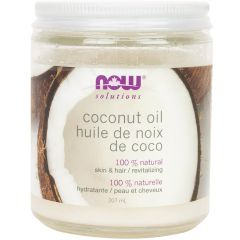 NOW 100% Natural Coconut Oil (For Skin & Hair), 207ml