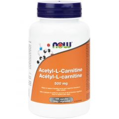 NOW Acetyl L-Carnitine, 500mg, 100 Vcaps