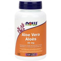 NOW Aloe Vera Concentrate, 50mg, 120 Softgels