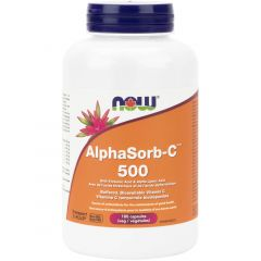 NOW AlphaSorb C 500mg with Bioflavonoids (Buffered Bioavailable Vitamin C)
