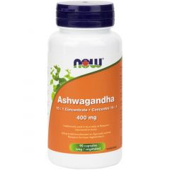 NOW Ashwagandha Extract, 400mg, 90 VCaps