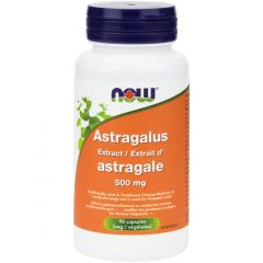 NOW Astragalus Extract 500mg (Standardized to 70% Polysaccharides), 90 VCaps