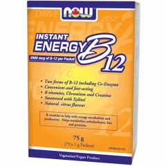 NOW B12 Instant Energy Packets 2000mcg, 75 Packs